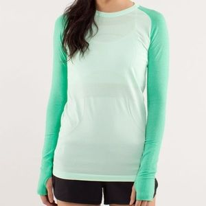 Lululemon Swiftly Tech Long Sleeve Top, Green